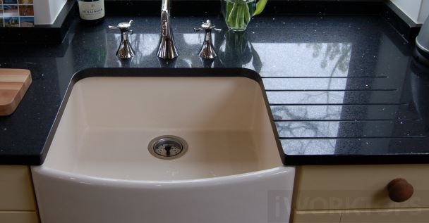 Belfast sink striaght back - iWorktops