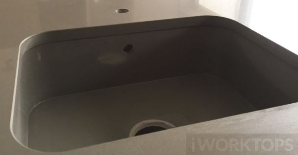 Silestone sink cutout with overhang - iWorktops