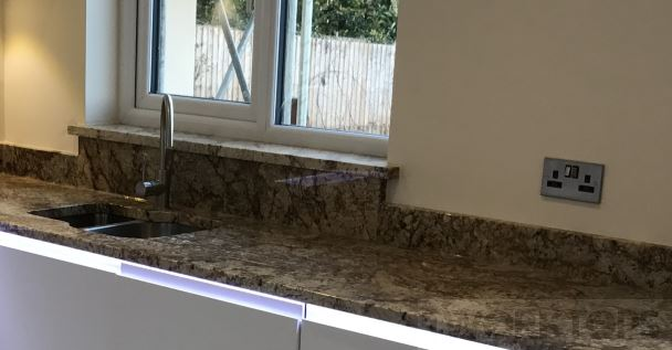 Sill higher with higher riser to meet - iWorktops