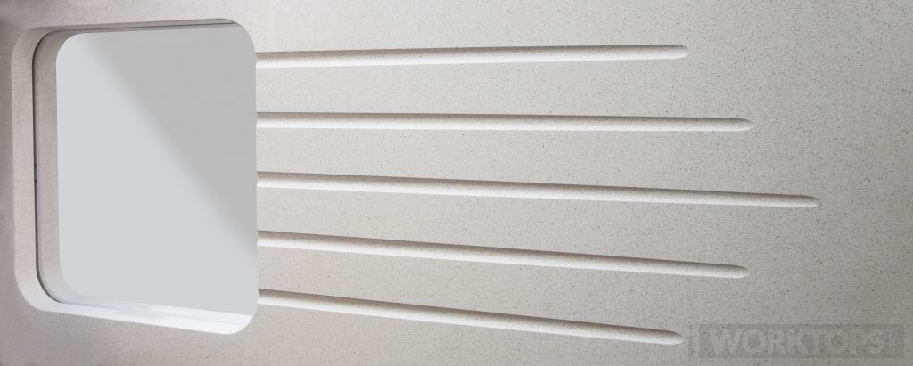 Reducing drainage grooves worktop drainage finish - iWorktops