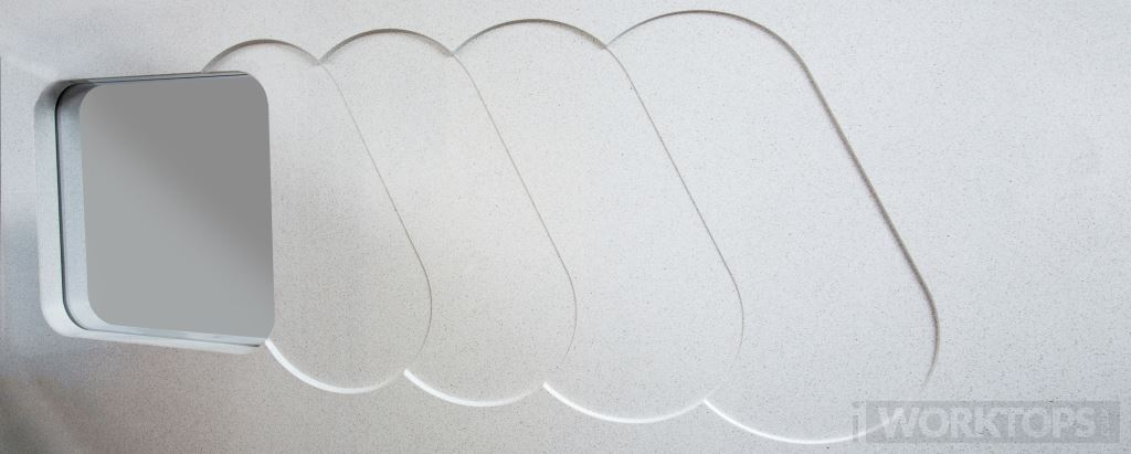 The Kingsbridge recess drainer worktop drainage finish - iWorktops