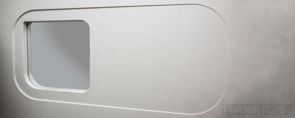 The Roborough recess drainer worktop drainage finish - iWorktops