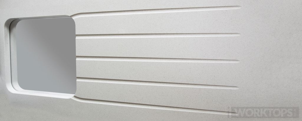 Dog legged drainage grooves worktop drainage finish - iWorktops