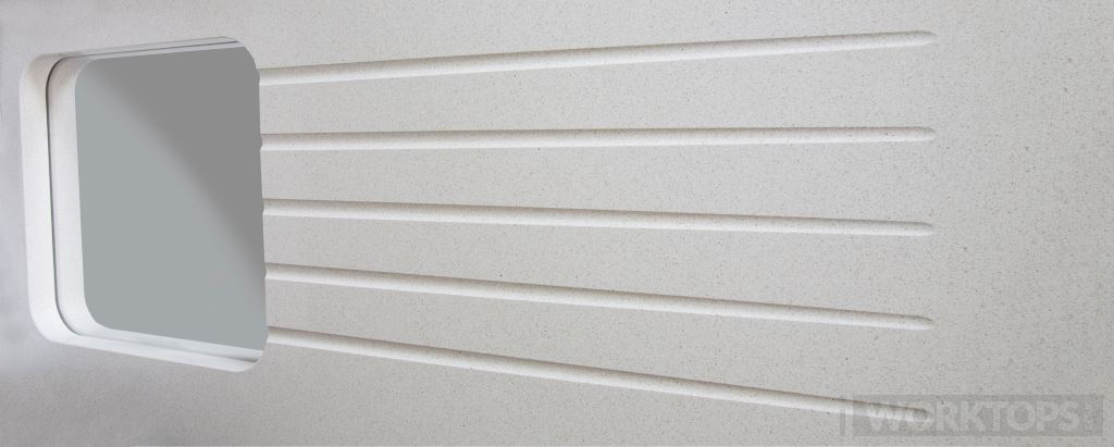 Straight drainage grooves worktop finish - iWorktops